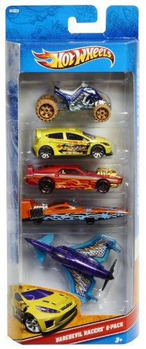 Hot Wheels - W4253 - Véhicule Miniature - Pack de 5 Voitures - Daredevil Racers 5