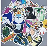 Swn-Sntshkut Adventure Time Cartoon PVC Etiqueta Impermeable para el Equipaje Wall Car Laptop Bicicleta Motocicleta Notebook Laptop Laptop Toys Stickers 30pcs