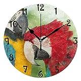 Azalea - Reloj de pared con placa redonda silenciosa y silencioso, para cocina, dormitorio, oficina, casa, escuela, niñas, decoración