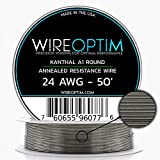 24 Gauge AWG Kanthal A1 Wire 50' Length - KA1 Wire 24g GA 0.51 mm 50 ft