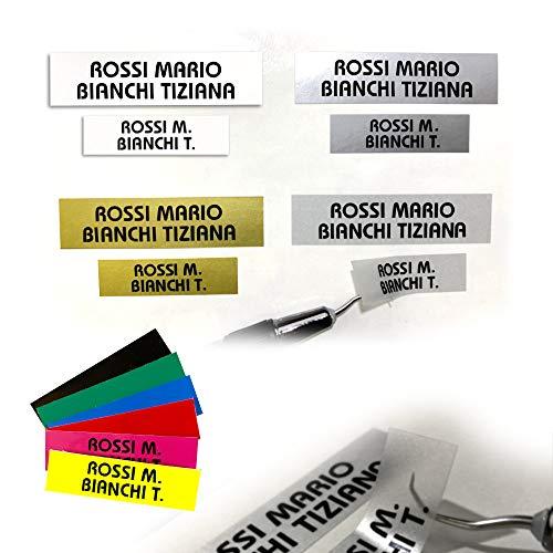 Circuito AUT AUT Etichette adesive per citofono Misura 1,5x5,5 cm e 2x8 cm, targhette in PVC in Diversi Colori Resistenti all'Esterno
