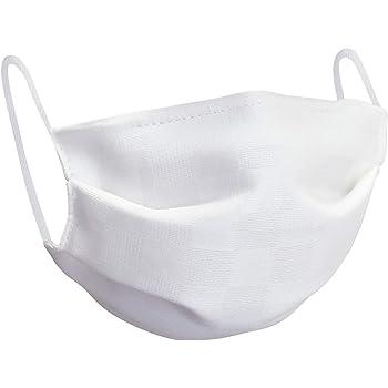 [オオキニ] マスク 夏用 シルクマスク ひんやり 涼感 冷感 UVカット 繰り返し使える 絹素材 日本製 三重構造 プリーツ型 白