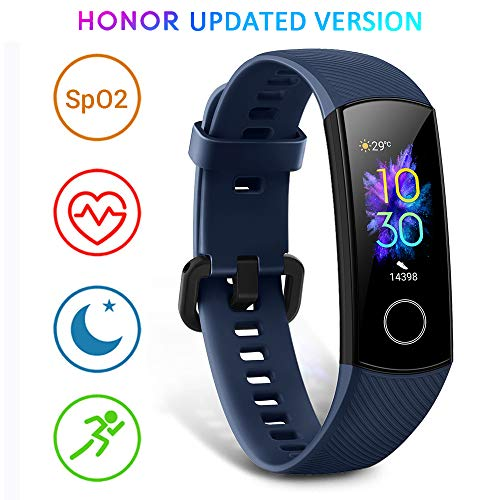 Scopri offerta per HONOR Band 5 Activity Tracker, Uomo Donna Smartwatch Orologio Fitness Cardiofrequenzimetro da Polso Impermeabile Smart Watch 0.95 Pollice Schermo a Colori,Blu