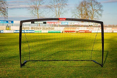 Fußballtor Garten- 2,7 x 1,5m - Inkl. Transporttasche und Bodenanker - Leicht und perfekt für den Garten