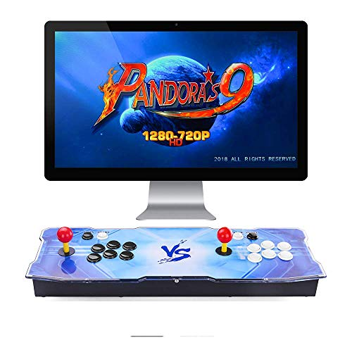 TAPDRA Pandora's Box 9 Joystick y Botones multijugador Arcade Console, Arcade Games Machines, 1500 Retro Video Games All in One, el Sistema ms Nuevo con CPU Avanzada Compatible con HDMI y VGA