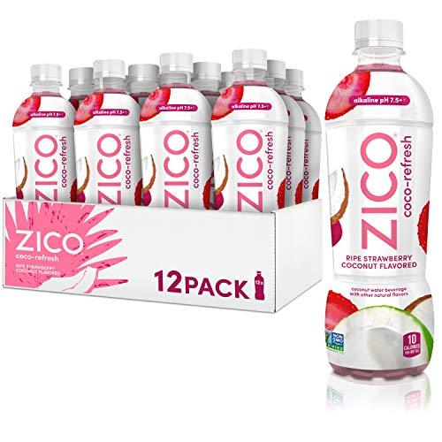 ZICO Coco-Refresh Ripe Strawberry Coconut Flavored, 16.9 fl oz (Pack of 12)