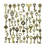 YMWALK Juego de Colgantes con Dije de Llaves de Bronce Antiguo, Formas y tamaños aleatorios, Accesorios Hechos a Mano para Hacer Joyas (50 Piezas)