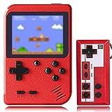 KINOEE Console de Jeu Portable Mini Lecteur de Jeu rétro avec 400 Jeux FC Classiques Prise en Charge de l'écran Couleur de 2,8 Pouces pour connecter la télévision et Deux Joueurs (Rouge)