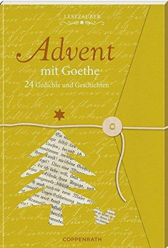 Lesezauber: Advent mit Goethe - Briefbuch zum Aufschneiden: 24 Gedichte und Geschichten (Adventskalender)