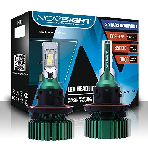 Kit De Conversion D'ampoules De Phares À DEL Extrêmement Lumineux (9005,9006, H4, H7, H11, H13) Phares À DEL Tout-En-Un, Blanc Froid 6500K 1W LM 60W,H13