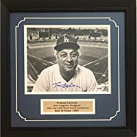 Tommy Lasorda Autographed Los Angeles Dodgers World Series Signed 8x10 Baseball Framed Photo PSA DNA COA