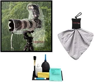 OP/TECH USA RainSleeve for Camera & Flash (2 Pack) + Accessory Kit for Canon, Nikon, Olympus, Panasonic, Fuji & Sony Alpha Cameras