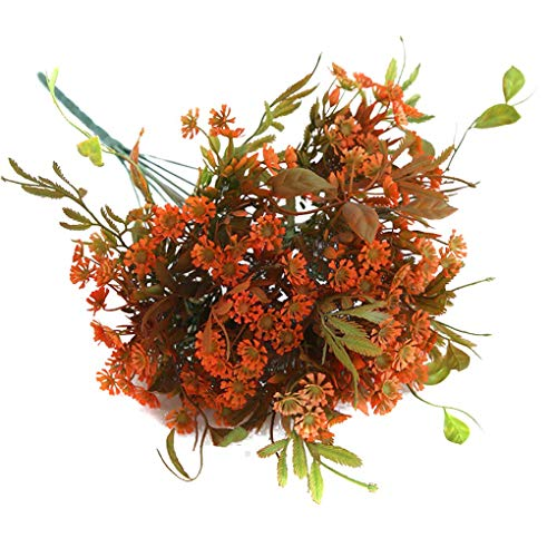 HenShiXin Puro Artificial 10 Tenedores de plástico Hierba Boda de la Flor Artificial 10 Forks decoración Fondo Shop Pared Falsa Hierba Elegante (Color : Orange)