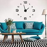 AUNMAS DIY Reloj de Pared Moderno acrílico 3D Reloj Reloj Grande Etiqueta para la decoración de la habitación de la Oficina en casa(2#)
