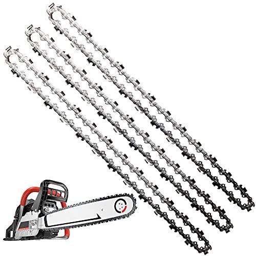 HongBoom Juego de 3 cadenas de motosierra de 3/8 pulgadas, para cortar ramas de madera