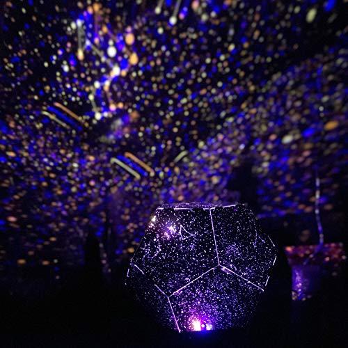 TYSYA sterrenlicht draaien nachtlampje beamer 3 kleuren verlichting op batterijen romantische lamp voor slaapkamer meisjeskamer