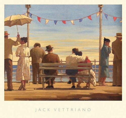 Jack Vettriano – Der Pier Kunstdruck (72,39 x 67,95 cm)