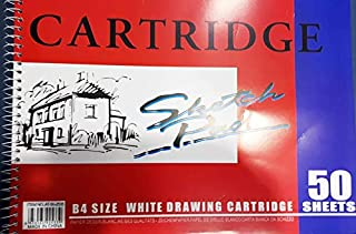 PaperWorld Cartridge Sketch Pad white thick papers Book B4 Size, 50 Sheets, Drawing Book durable Acid Free,Sketch Paper,sk...