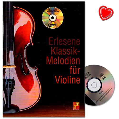 Uitgelezen klassieke melodieën voor viool - alle grote componenten in dit leerboek van Kurt Vogel - leerboek met CD en kleurrijke hartvormige muziekklem