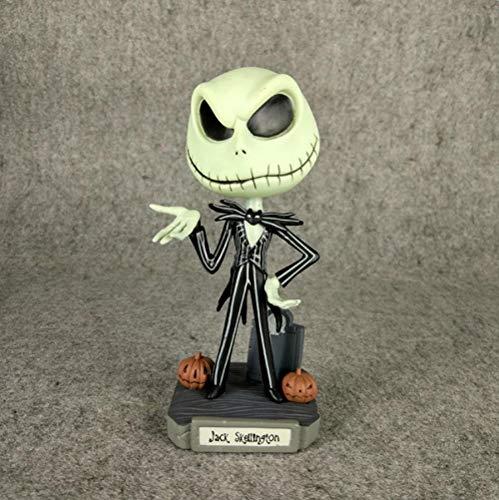 19cm la Pesadilla Antes de Navidad Figura Jack Skellington Modelo muñeca Bobble-Head Wacky Wobbier Jack Figura de Juguete