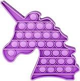 Tpcean Push Pop Pop Bubble Sensory Fidget para autismo, necesidades especiales de silicona para aliviar el estrés, para niños y adultos (morado)