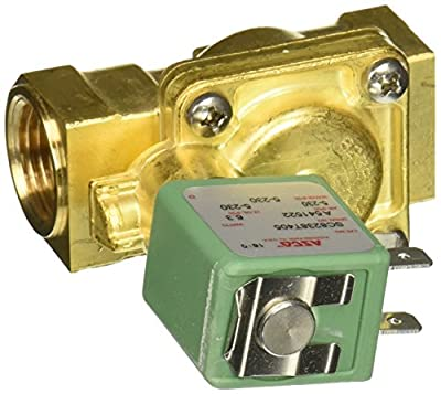 "ASCO SC8238T405-120/60 Brass Body Pilot Operated General Service Solenoid Valve, DIN Enclosure, Class F, 1/2"" Pipe Size, 2-Way Normally Closed, Brass Sealing, 17/32"" Orifice, 4.5 Cv Flow, 120V/60 Hz by ASCO Valve Inc."