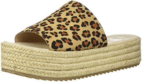Coolway Damen Espadrille Keilsandale Bory, Braun (leopard), 42/42.5 EU
