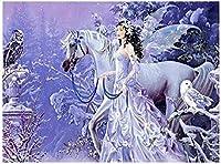大人と子供 ジグソーパズル 300/500/1000 ピース ファミリーゲームジグソーパズル蝶の妖精と白い馬パズルに挑戦するパズルゲーム