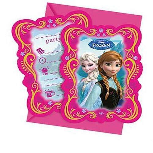 Disney 82504P - Frozen IEinladungs karten, mehrfarbig