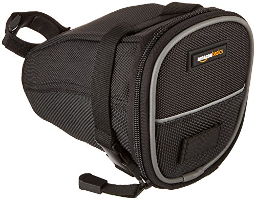 AmazonBasics Strap-On Wedge Saddle Bag for Cycling - Medium