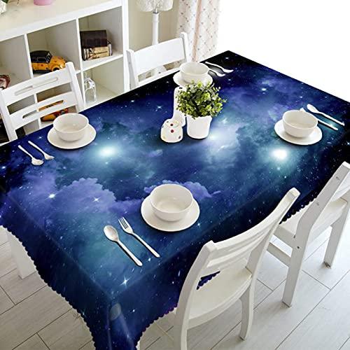 sans_marque Mantel de mesa, antiderrames y antiarrugas, utilizado para decoración de mesa de cocina. Diámetro redondo 150 cm