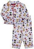Nickelodeon Boy's Paw Patrol Coat Style Flannel Pajama Set, 3T Gray