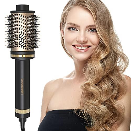 UBEGOOD Brosse Soufflante, Multifonctionnels Brosse Soufflante Rotative Brosse pour Sèche-cheveux air Chaud 5 en 1 Ionique Négatif Ionique Négatif Brosse Cheveux Brosse Air Chaud Brosse Lissante
