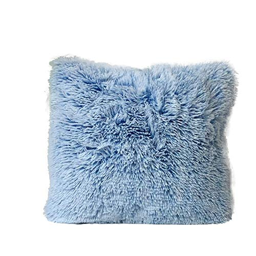 Fodere per cuscini in peluche, fodera per cuscino rettangolare in pelliccia sintetica super morbida per decorazioni (blu, taglia unica)