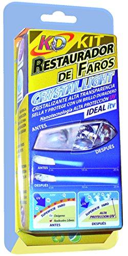 Kit Restauración de Faros con Cristalizante y Protector UV