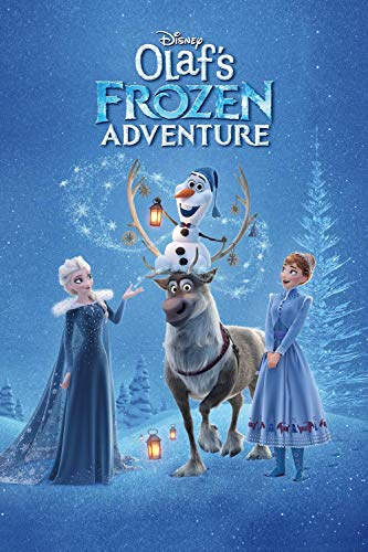 GUANGMANG 5D Diamond Painting Art Full Drill Kits,Olaf'S Frozen Adventure Movie Posters Full Diamond 5D Diamond Art, Diamond Painting Kits DIY Art Craft Home Wall Decoration