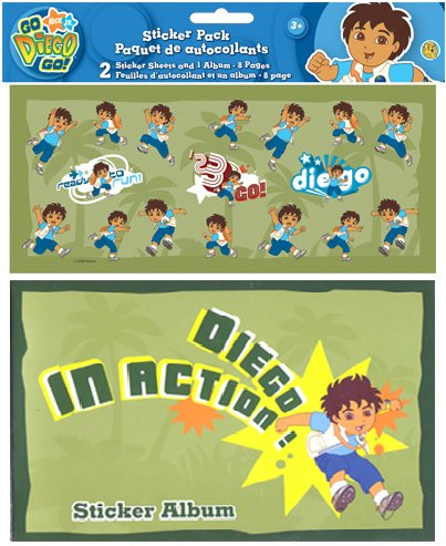 Go Diego Go - Dora the Explorer Sticker Album & 34 Stickers