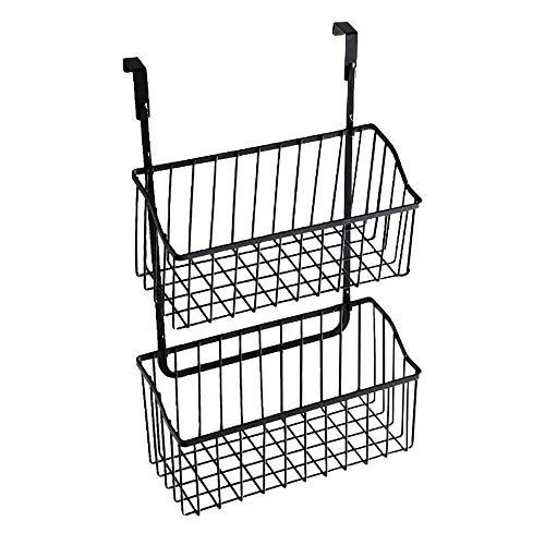 WFBD-CN Basket archiviazione Cabinet Armadio Domestica Mensola Porta Hanging Home Organizer Rack Bagno Cucina Sfiziosa Nodic Style (Color : Black 2)