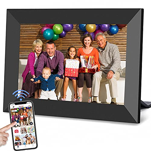 YunQiDeer Digital Picture Frame 10.1 Inch WiFi Photo Share Family Smart Frame,1280x 800 IPS Touch Screen with 16GB Storage,Share Photos and Video Clips Instantly via Frameo App