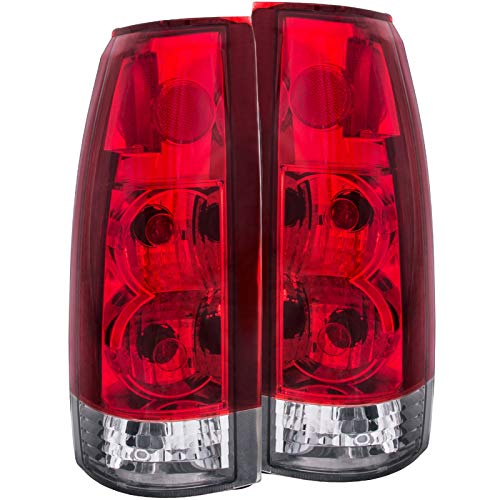 AnzoUSA 211140 Cadillac/Chevrolet/GMC Red/Clear G5 Tail Light Assembly - (Sold in Pairs)