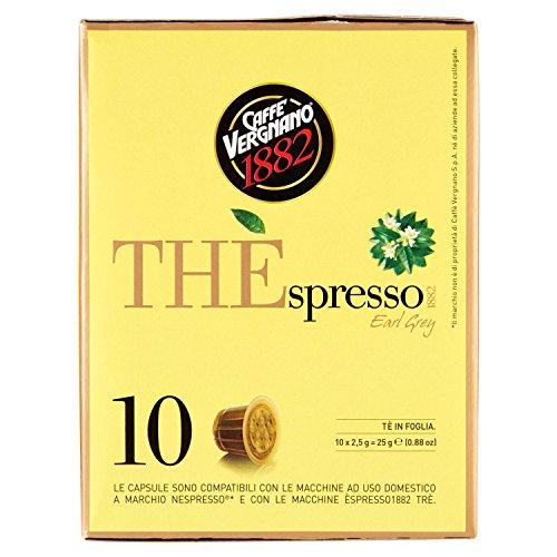 Caffè Vergnano 1882 THÈspresso1882 Earl Grey - Compatibili Nespresso [3 confezioni da 10 capsule- totale 30 capsule]