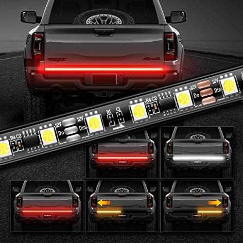 Tailgate Light Bar 60Inch Triple 180LED Truck Tailgate Strip Light for Running Light Brake Light product image