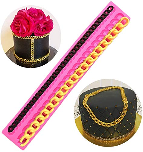 Palksky Diamond Silicone Fondant Chain Mold Purse Bag Cake Decorating Gum Pastry Sugarcraft Chocolate Clay Mould