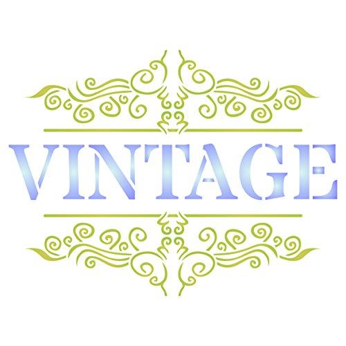 Plantilla de pared vintage francesa – Plantilla reutilizable con palabras francesas – Uso en proyectos de papel scrapbook diario paredes suelos tela muebles cristal madera etc, large
