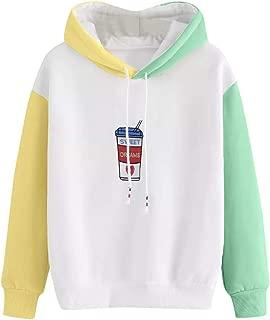 Teresamoon Womens Cat Long Sleeve Hoodie Sweatshirt Hooded Pullover Tops Blouse (A, Free)