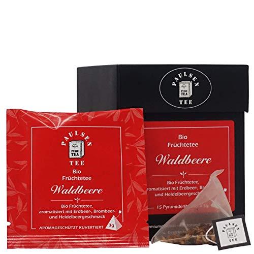 Bio Waldbeere 15 x 3g (127,78 Euro / kg) Paulsen Tee Früchtetee im Pyramidenbeutel - Bio, rückstandskontrolliert & zertifiziert