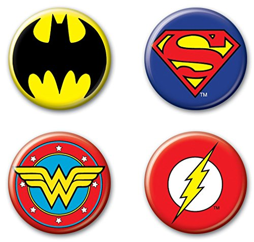 Ata-Boy DC Comics Originals Justice League Logos Assortment #3 Set of 4 1.25