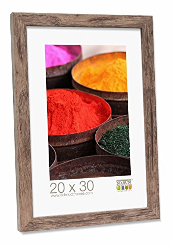 Deknudt Frames S45RH3-20.0X25.0 Bilderrahmen, Holz, Block-Zierleiste, 29,8 x 24,7 x 2,2 cm, Braun