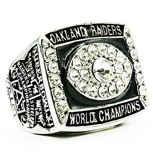 Sentoo 1976 Oakland Raiders Super Bowl Championship Ring Silver (13)