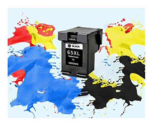 YJTT Reemplazo 65XL Cartucho de Tinta for HP 65 XL HP65 for HP DeskJet3720 3722 3755 3730 3758 5010 5020 5030 Envidia 5232 Impresora (Color : 1BK)